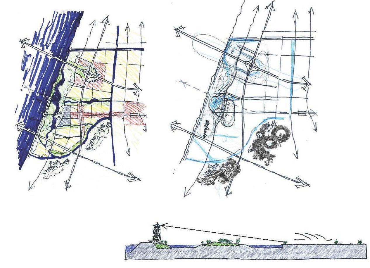 Assembledge, Hangzhou, Urban Planning, sketch